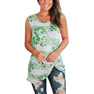 WFTBDREAM Women's Summer Sleeveless Floral Print Casual Tank Tops Shirts