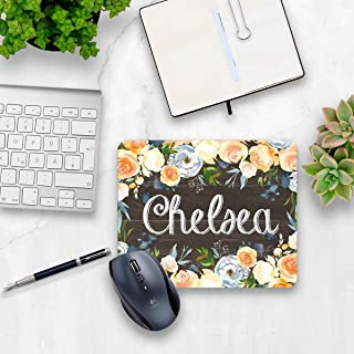 Rustic floral mouse pad personalized home or office decor desk accessory gift for co-worker appreciation