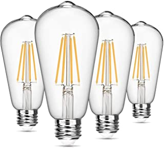 Vintage LED Edison Bulb Dimmable 8W ST64 Led Filament Light Bulb 2700K Soft White 820 Lumen