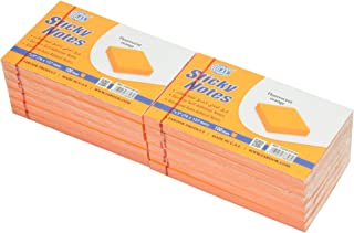 FIS Sticky Note Pads, Fluorescent Orange Colors, (100 Sheets x 12 Pieces), 3 x 5 Inch Size - FSPO35FOR