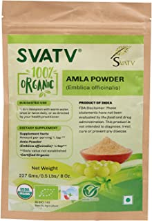 SVATV Organic Amla Powder II Indian Gooseberry, Emblica officinalis, Amalaki II USDA Certified Organic II 2...