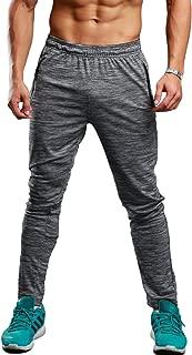 Men's Athletic Running Sport Jogger Pants with Zipper Pockets