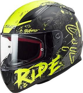 LS2 Herren NC Motorrad Helm, Schwarz/Gelb, S