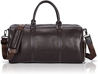Genuine Leather Travel Weekender Overnight Duffel Bag Gym Sports Luggage Tote Duffle Bags For Men & Women