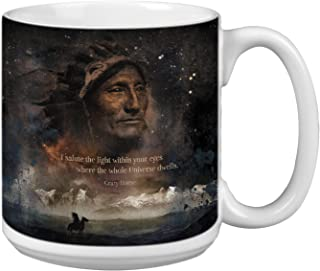 Tree-Free Greetings Extra Large 20-Ounce Ceramic Coffee Mug, The Light Within Themed Inspiring Quote Art (XM29630)