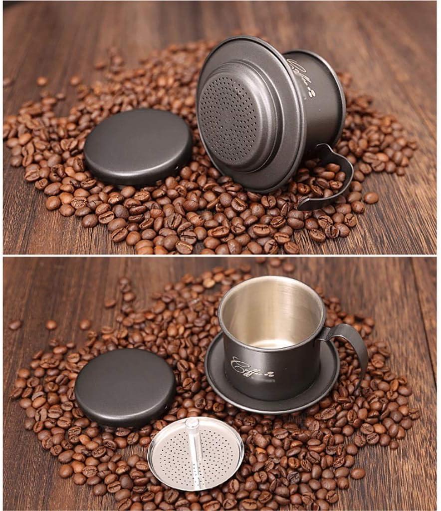 PXX Moulin À Café Manuel -Verser Sur Le Machine À Café Cafetière Set Drip/Cafetière En Acier Inoxydable Tasse de Café Filtre Tasse de Café 105 * 82Mm,A A