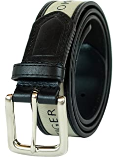 Tommy Hilfiger Men's Ribbon Inlay Belt - Ribbon Fabric...