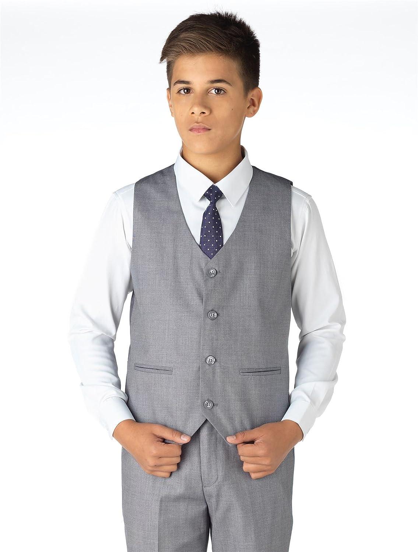 Paisley of London, Traje para niños, color gris, traje ajustado para niños, traje de baile para niños, 12-18 meses - 14 años