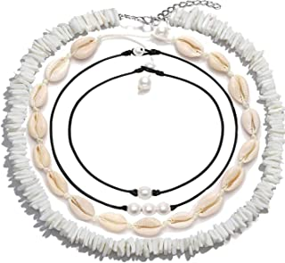 ATIMIGO Natural Puka Shell Choker Necklace for Women...