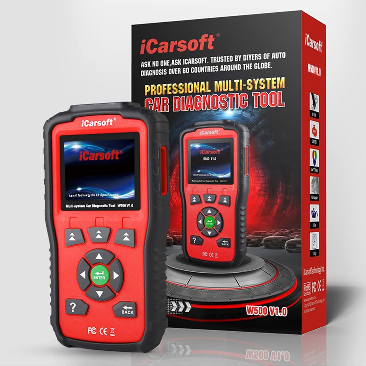 security iCarsoft Auto Diagnostic Scanner W500 V1.0 VW Audi Direct store Seat for Skod