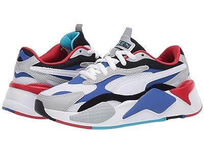 Puma Kids RS-X3 Puzzle (Big Kid) (White/Dazzling Blue/High-Rise) Boys Shoes