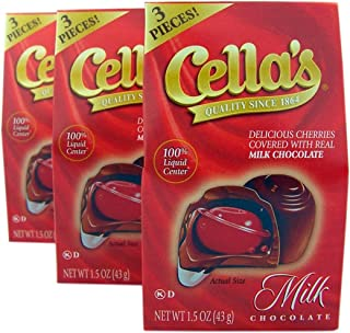Cella's Milk Chocolate Covered Cherries Mini Box, 1.5 oz, Pack of 3