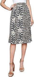 Sugar Lips Women's Leopard Satin Slip Skirt