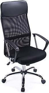 Exofcer Haute Dossier incurvé en Maille Home Chaise de Bureau Executive Ordinateur Chaise de Bureau pivotant réglable en H...