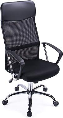 Exofcer Haute Dossier incurvé en Maille Home Chaise de Bureau Executive Ordinateur Chaise de Bureau pivotant réglable en Haut