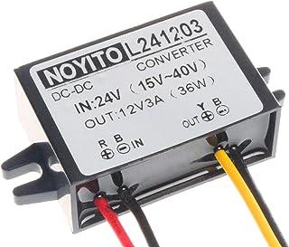 NOYITO DC to DC 12V 3A 36W Converter Buck Module 24V 36V 14V- 40V Buck to 12V 3A Power Converter IP68 Waterproof Shockproo...