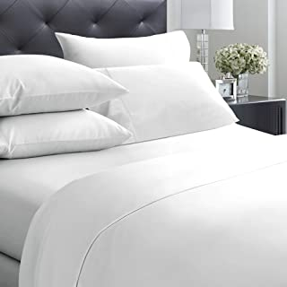 400-Thread-Count King Size Sheet Set – 6 Pcs with 4 Pillowcases – 100% Cotton..