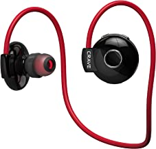 Crave Octane Sport Wireless Bluetooth Earphones, in-Ear Sweat and Water Resistant Stereo Lightweight Headphones Earbuds Premium Sports Headset with Built-in Mic – Red