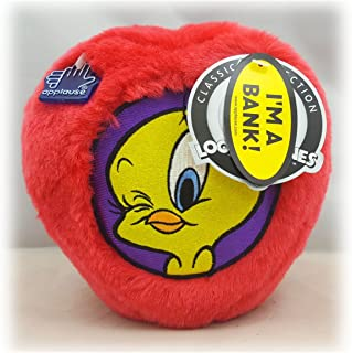 Looney Tunes Applause Classic Collection Tweety Bird Fuzzy Coin Bank