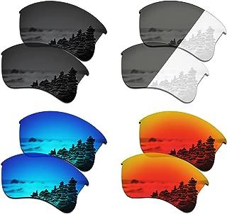 SmartVLT Set of 4 Men's Replacement Lenses for Oakley Flak Jacket XLJ Sunglass Combo Pack S01