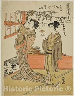 Historic Pictoric Print : The Day of Starting (Kotohajime), from The Series The Fashionable Five Days of Starting (Furyu go kotohajime), Isoda Koryusai, c 1766, Vintage Wall Decor : 36in x 48in