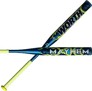 Worth 2019 Mayhem 1-Piece XL All Association Slowpitch Softball Bat: WM19CA