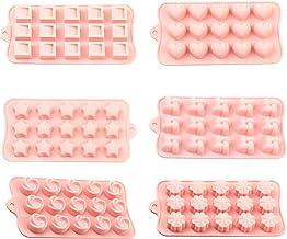 6 اشكال مختلفة من قوالب السيليكون لعمل الشوكالاتة والحلوى