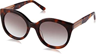 Sass & Bide Women's Signed & Sealed SAS1909800 Round Sunglasses,Honey Demi,53 mm