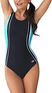 Women's Agnes One Piece Padded Swimming Costume Athletic Swimsuit Sport Training Bathing