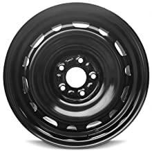 Road Ready Car Wheel For 2009-2013 Mazda 6 16 Inch 5 Lug Black Steel Rim Fits R17 Tire - Exact OEM Replacement - Full-Size Spare