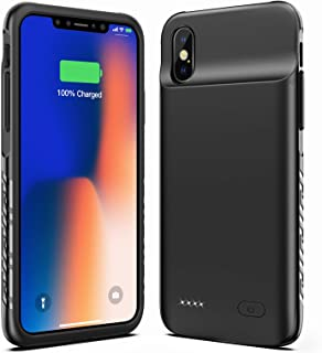 New Version Swaller Battery Case for iPhone X XS 10, 4000mAh Slim Portable Charging Case Protective Rechargeable Charger Case Extended Battery Compatible with iPhone X XS 10 (5.8 inch) - Black
