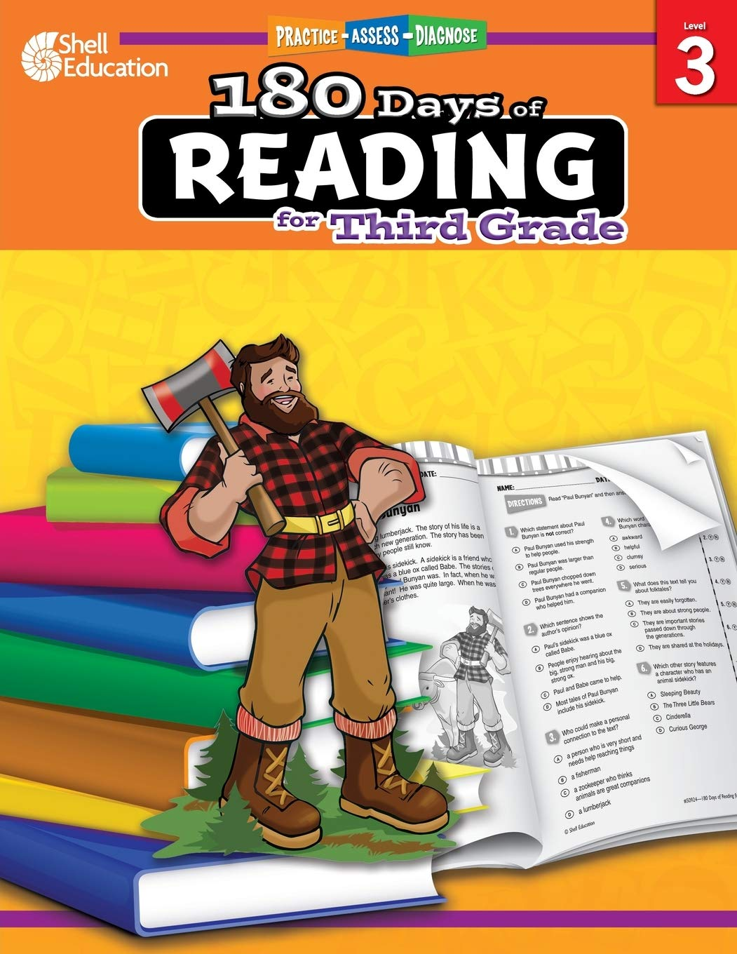 Image Of180 Days Of Reading: Grade 3 - Daily Reading Workbook For Classroom And Home, Reading Comprehension And Phonics Practice, ...