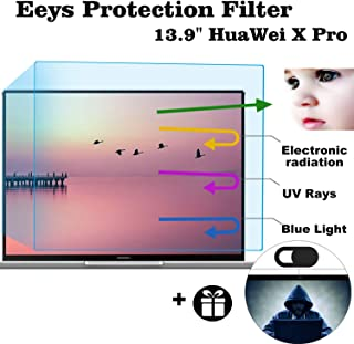 """Eyes Protection Filter Fit Huawei MateBook X Pro 13.9"""" Anti Blue Light Anti Glare Screen Protector, Reduces Digital Eye Strain Help You Sleep Better"""