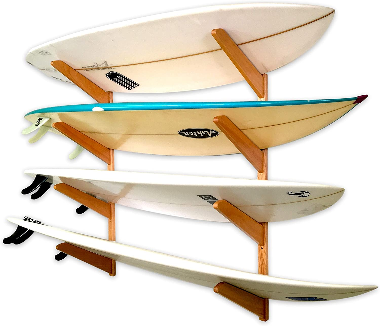StoreYourBoard Timber Surfboard Wall 67% OFF of fixed price Rack Limited time trial price Holds Surfboards 4 W