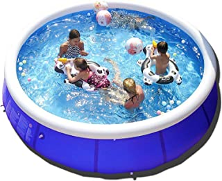 WowTowel Inflatable Swimming Pool Above Groud, Family Outdoor Backyard Portable Top Ring Blow Up Pools for Kids and Adluts (12.0)