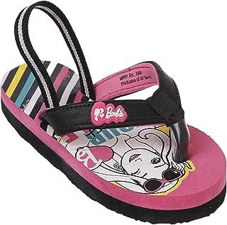 Barbie by Kidsville Pink/Black Girl's Flipflops Flip-Flops-4.5 Kids UK (27 EU) (BB1FGF1605)