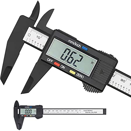 Amazon Com Digital Caliper 150mm 6inch Lcd Digital Electronic Carbon Fiber Vernier Caliper Gauge Micrometer Home Improvement