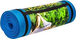 Cosfer Unisex Pilates Matı Silikon, Mavi, Tek Beden, 10MM