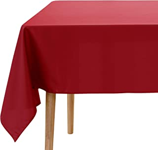 Amazon Brand - Umi Nappe Polyester Rectangulaire Rouge Impermeable Nappe pour Table Basse de Salon 140x240 cm pour Enfant ...