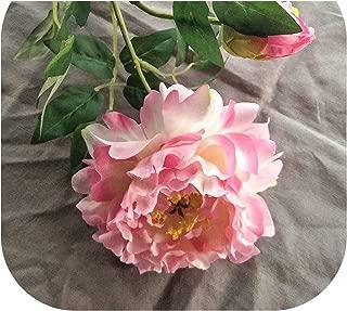 Charmg Artificial Flower Peony Silk Flower 3 psc/Bouquet Decorative Pot Home Wedding Party Artificial Fake Flower,Pink,M