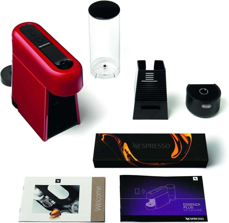De'Longhi EN200.B Machine à café avec système Nespresso 230 Decibel, Plastique, Noir Rouge