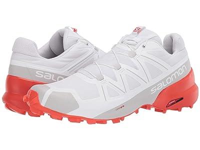 Salomon Speedcross 5 (White/White/Cherry Tomato) Men