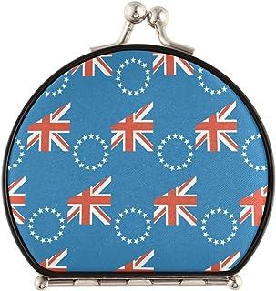 Cooköarna flagga 1x/2x förstoring resesminkspegel, handhållen spegel, kompakta speglar för handväska, ficka