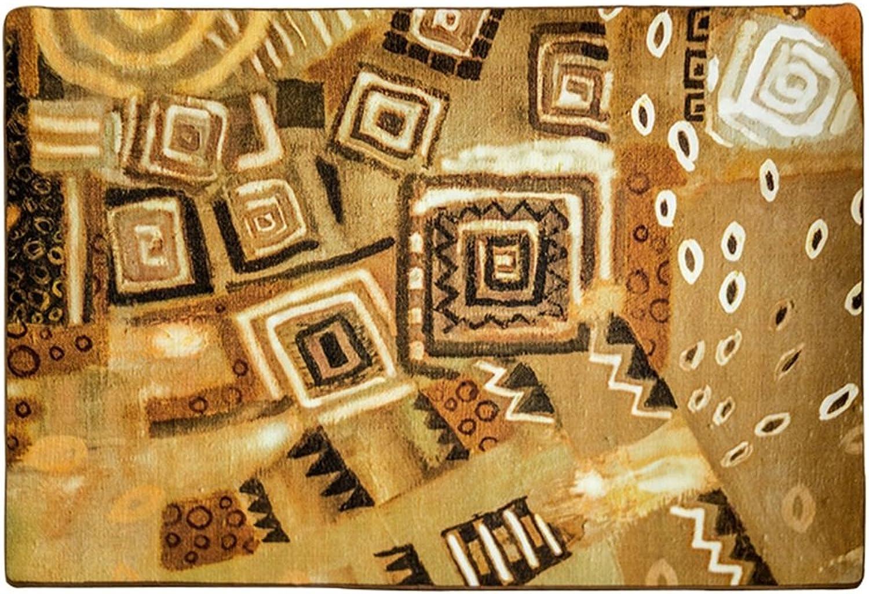 LiuJF Bereich Teppich, kreative geometrische Startseite Couchtisch Sofa Korridor Pad Wohnzimmer Schlafzimmer Bodenmatte gelb leicht zu reinigen Lnge 120-140 cm (Farbe   B, gre   120  170CM)
