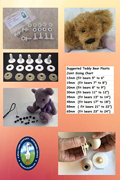 Stuffed animal Joint 55mm Doll Joints 55mm sold individually so you can decide how many you need Bear Joints 55mm