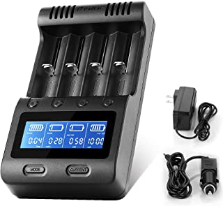 Zanflare C4 急速電池充電器 リチウムイオン/ニッケル水素電池/ニカド電池対応 LCD付き 電池容量測定 バッテリー活性化機能 USB出力機能付き モバイルバッテリー 車載充電器 Ni-MH Ni-Cd IMR 18650 26650 26500 22650 18490 17670 17500 17355 16340 14500 10440 SCサイズ