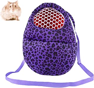 Tfwadmx Hamster Carrier Bag Portable Pet Outgoing Travel Backpack Animals Warm Handbags Sleeping Bed Breathable Mesh Packet Medium Zipper Pouch for Mouse Sugar Glider Hedgehog Rat Gerbil Guinea Pig