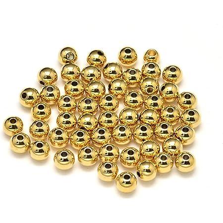 F1630 500pcs Raw Brass Round Beads Spacer Beads 3mm