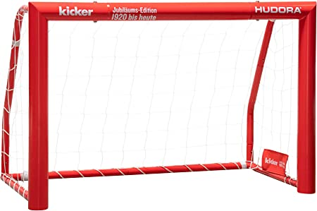 Hudora Expert 120-300 Football Goal Steel Garden Football Goal for Children Youth and Adults Without Goal Wall in Standard /& Kicker Edition