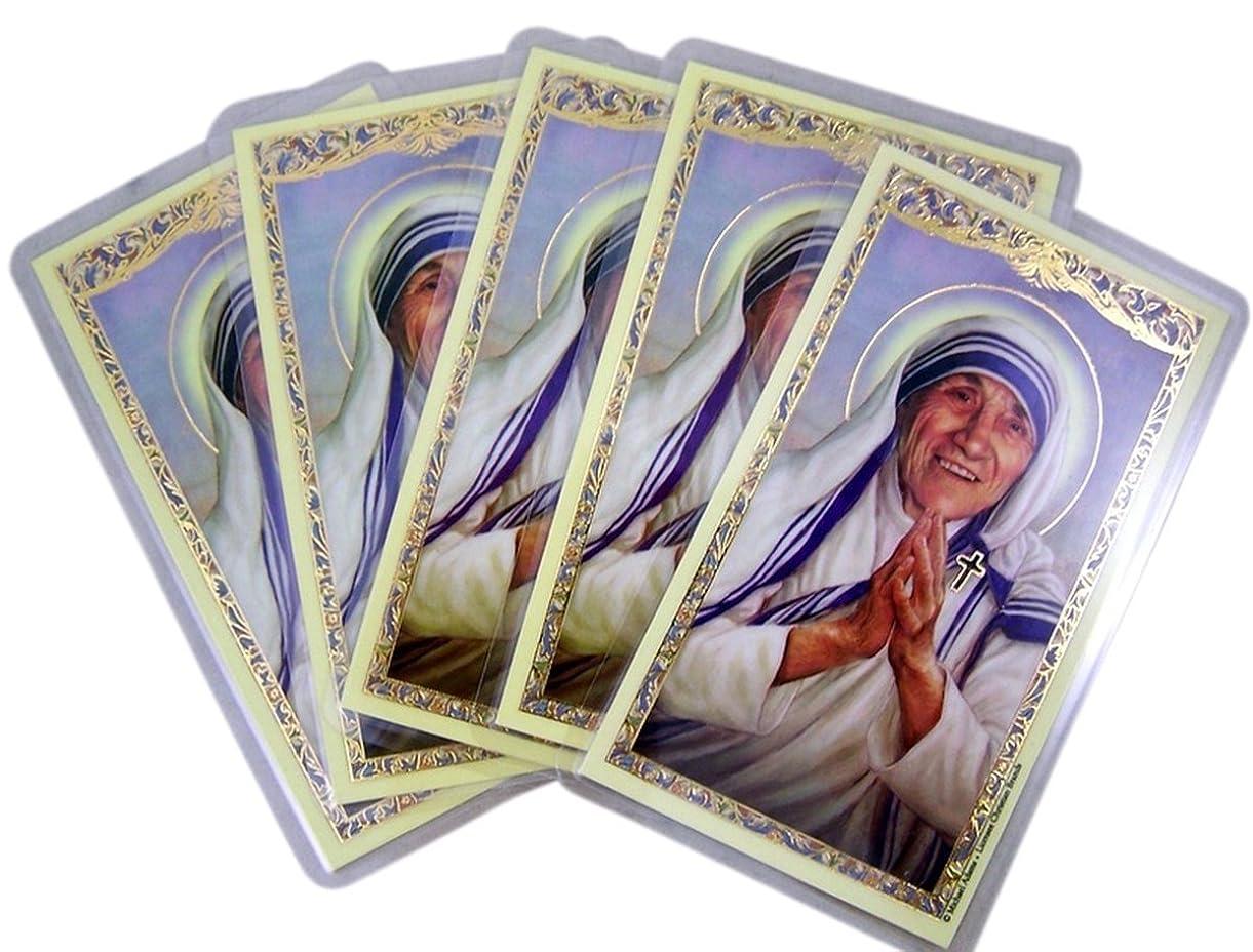 灰朝の体操をする連結するSaintアビラのカルカッタラミネートHolyカードwith毎日祈り、4?1?/ 2インチ5パック Pack of 25 イエロー PN#800-1283